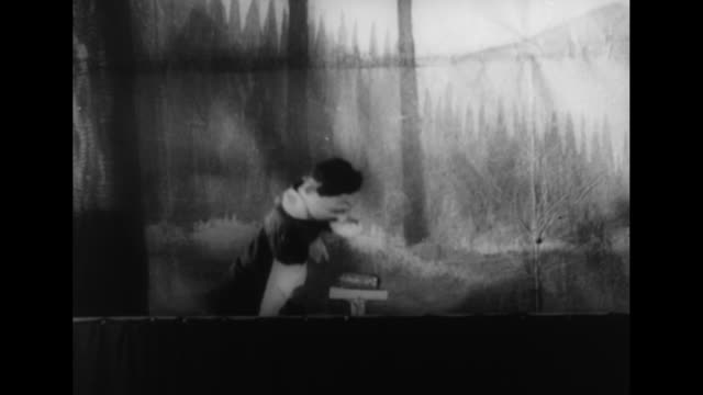 vidéos et rushes de ls large audience at performance of japanese play // [madrid spain vo narration and performance in spanish] young children in audience / puppet show... - marionnette