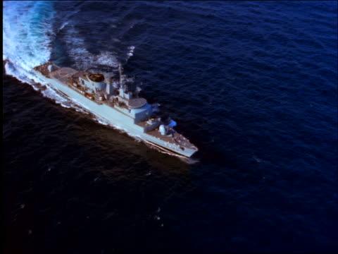 AERIAL large battleship (aircraft carrier?) on ocean / Brazil