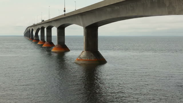 Large Bridge on Prince Edward Island with Water Flowing Underneath