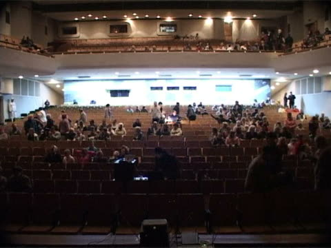 large cinema hall (time lapse) - auditorium stock videos & royalty-free footage
