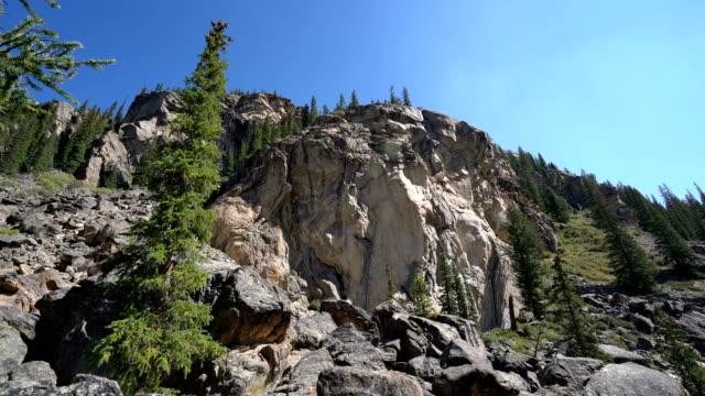 large cliff face near aspen , colorado - aspen tree stock videos & royalty-free footage