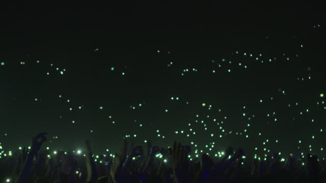 Large Concert Crowd with Cell Phones