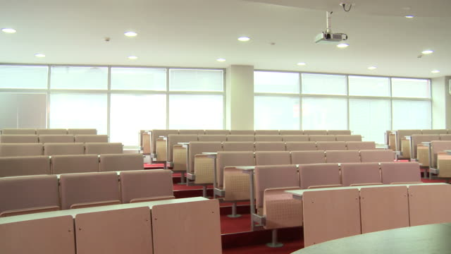 hd: large conference room - lecture hall stock videos & royalty-free footage
