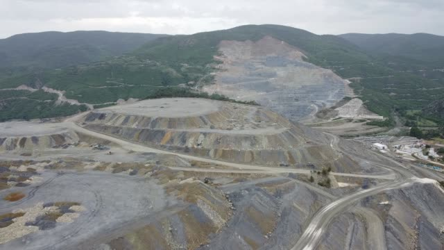 large copper mine, turkey - metal ore stock videos & royalty-free footage
