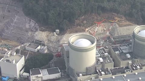 large crane toppled in strong winds at the takahama nuclear power plant takahama, fukui prefecture,japan on jan. 20, causing some damage to the roofs... - nuclear energy stock videos & royalty-free footage