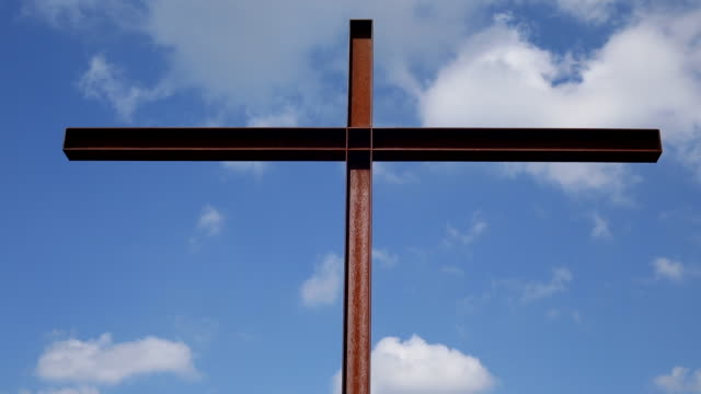 Large Cross with sky, panning