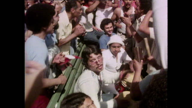 large crowd celebrate puerto rico day in central park; 1980 - drummer stock videos & royalty-free footage