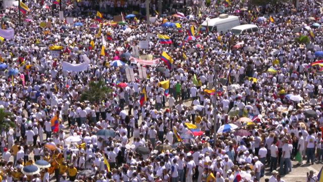 hd: large crowd in barranquilla - fairground stock videos and b-roll footage