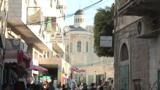 Large Crowd, Small Road, Bethlehem, Palestine