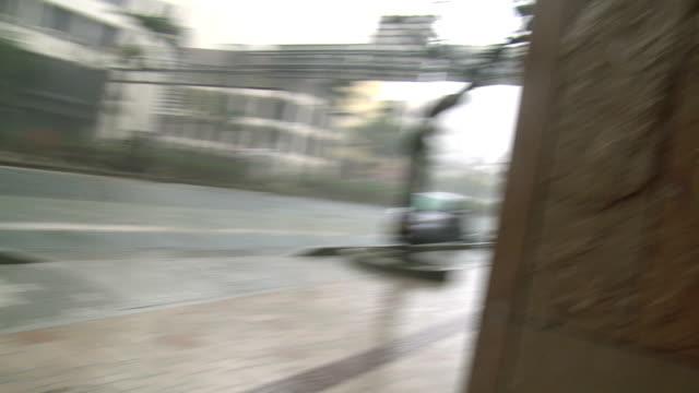 Large Debris Flies In Violent Hurricane Winds