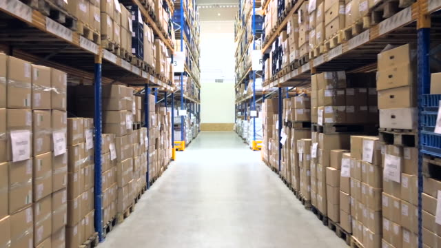 large distribution center interior - reverse motion - warehouse stock videos & royalty-free footage