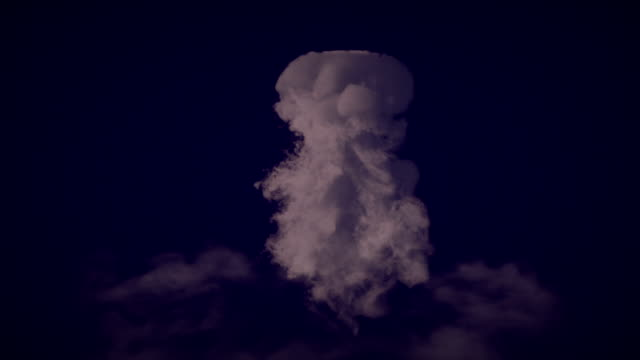 Large explosion with smoke digitally generated image