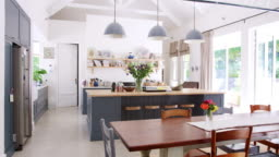 Large family kitchen in a period conversion house