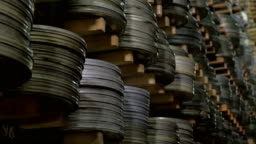 Large film archive with its infinite items.
