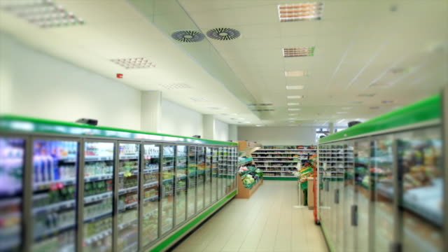 large grocery store - refrigerator stock videos & royalty-free footage
