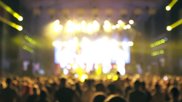 large group of people at concert. - pop musician stock videos & royalty-free footage