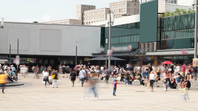 large group of people shopping in the city - alexanderplatz stock videos & royalty-free footage