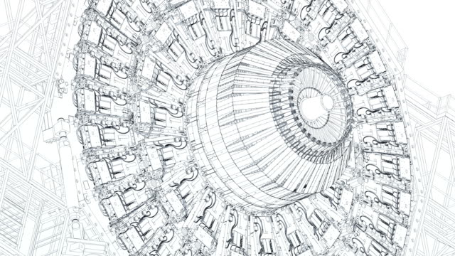 large hadron collider wireframe blueprint - blueprint stock videos & royalty-free footage