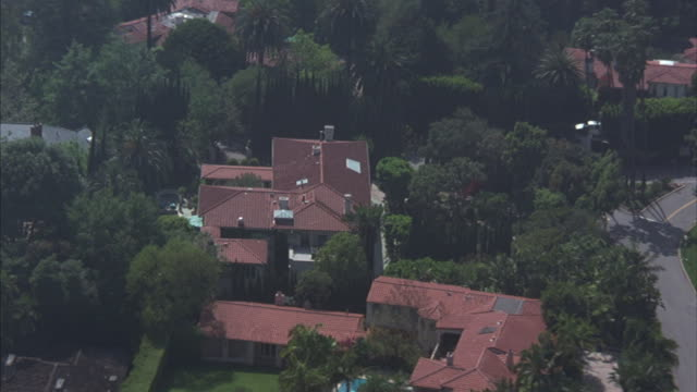 Large houses comprise a Los Angeles neighborhood.
