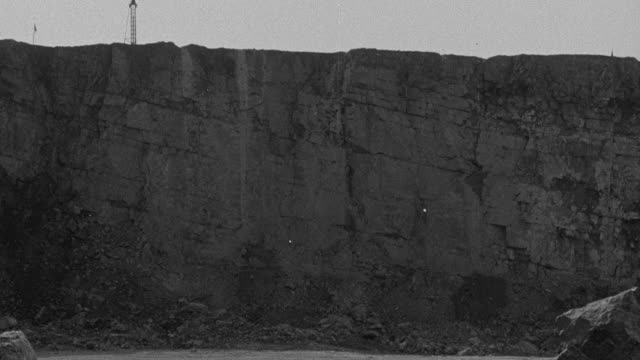 ws large limestone mountain is blasted/great britain - 1948 stock videos & royalty-free footage