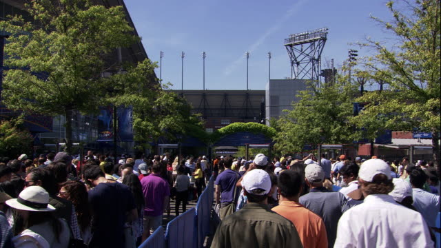 large lines at the us open - anticipation stock videos & royalty-free footage