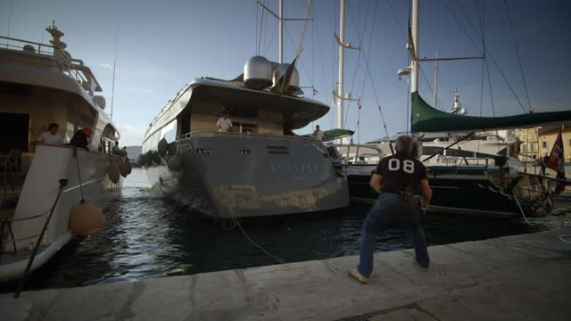 large luxury yachts in st-tropez, france - var stock videos & royalty-free footage