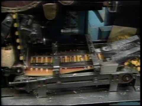 large machines manufacturing yellow crayola crayons - crayon stock videos & royalty-free footage