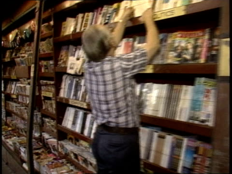 large magazine and newspaper stand in los angeles - bookseller stock videos and b-roll footage