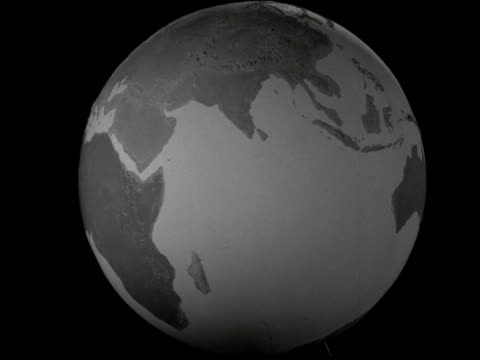 large model globe of the earth slowly spins. 1960s - spinning stock videos & royalty-free footage