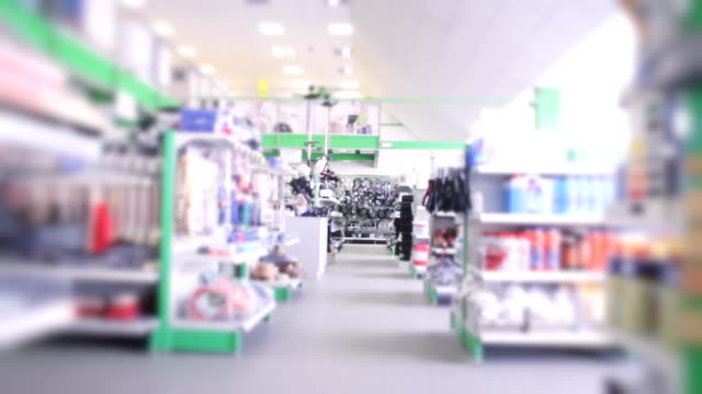 Large modern technical store interior