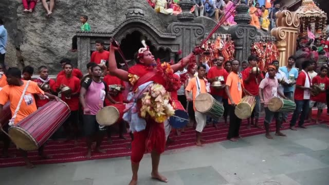 A large number of devotees from various parts of India and abroad arrive in Kamakhya Temple in Guwahati to celebrate the Deodhani festival where...