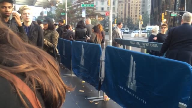 A large number of people waited on line for the coveted Balmain x HM collection outside of the Time Warner building in Columbus Circle in Manhattan