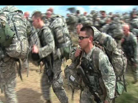 large numbers of american troops arrive following devastating earthquake haiti 20 january 2010 - haiti stock videos & royalty-free footage