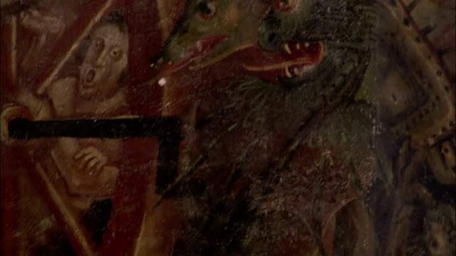 A large painted mural in Albi Cathedral depicts the Last Judgment. Available in HD.