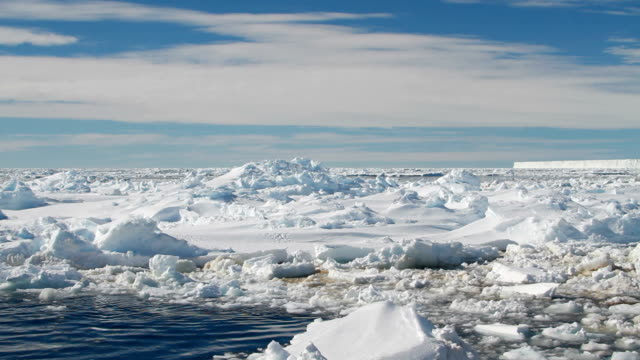 large pieces of ice in water, antarctica - south pole stock videos & royalty-free footage