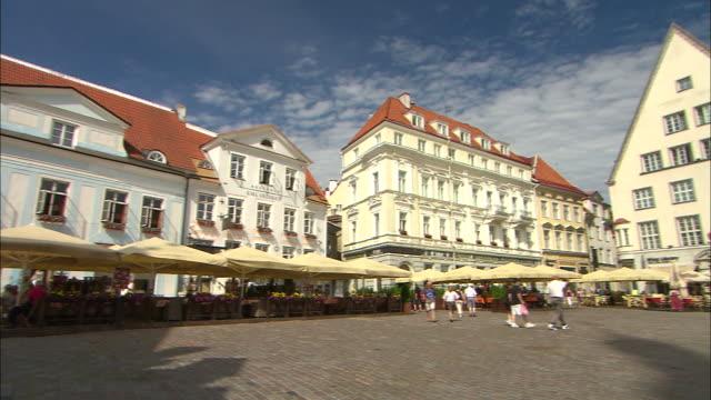 Large Plaza and Vendors, Tallinn, Estonia