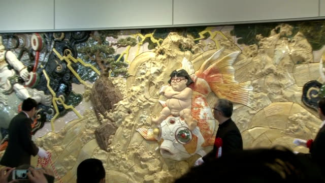 A large porcelain plaque with relief art work was unveiled at Sendai International Airport on Thursday March 12 to be dedicated to the survivors of...