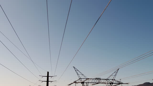 large power lines providing clean energy - hydroelectric power stock videos & royalty-free footage