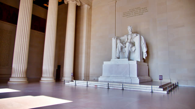large president statue lincoln memorial in washington d.c - politician stock videos & royalty-free footage