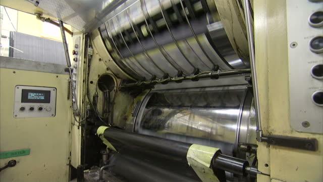 ms large roller plates printing onto sheets of money / washington d.c., washington d.c., united states - money press stock videos & royalty-free footage