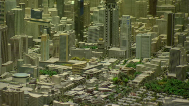 cu tu large scale model of city of shanghai in year 2020 on display at shanghai urban planning museum, shanghai, china - architectural model stock videos and b-roll footage