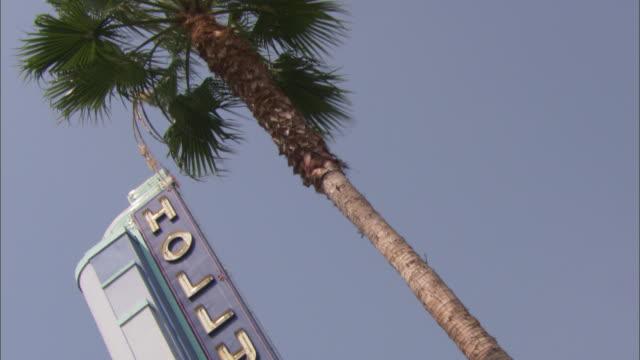 vídeos y material grabado en eventos de stock de a large sign reading hollywood - cámara en mano