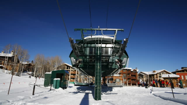 a large ski lift - see other clips from this shoot 1169 stock videos & royalty-free footage