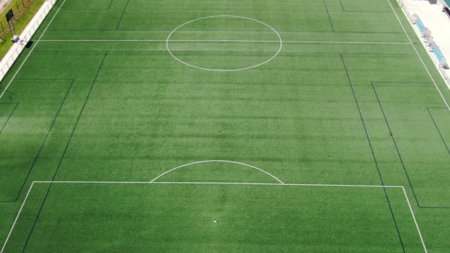 large soccer field as seen from above - football pitch stock videos & royalty-free footage