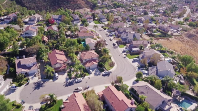 Large Suburban Homes in California - Aerial View