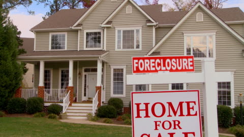 ms, td, large suburban house with 'for sale' sign in front yard, richmond, virginia, usa - 2008 stock videos & royalty-free footage