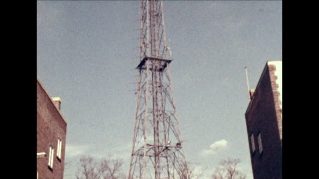a large television mast in the uk; 1973 - metalwork stock videos & royalty-free footage