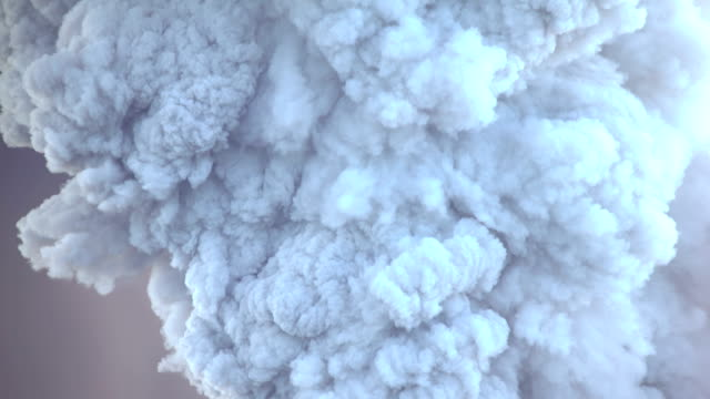 Large volcanic eruption at Shinmoedake crater at Kirishima volcano in Japan sends ash high into the sky