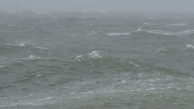 large waves and rough surf, nor'easter - scott mcpartland stock videos & royalty-free footage