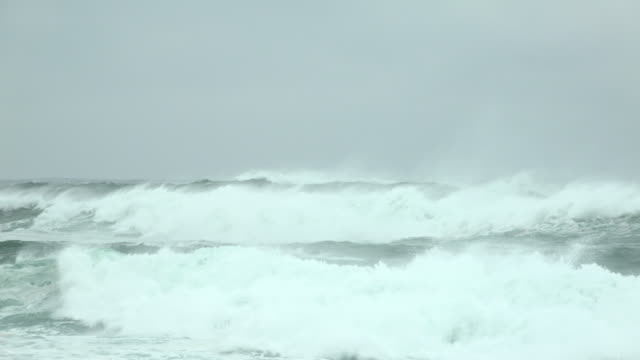large waves crash ashore as typhoon hagibis nears landfall on japan - rough stock videos & royalty-free footage